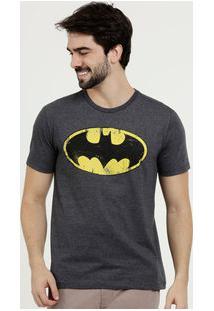 Camiseta Masculina Estampa Batman Liga Da Justiça