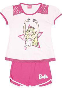 Short Doll Barbie ® Com Renda- Rosa Claro & Rosaevanilda