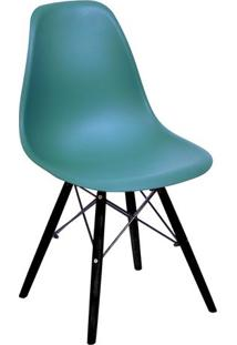 Cadeira Eames Dkr- Azul Petrã³Leo & Preta- 80,5X46,5Xor Design