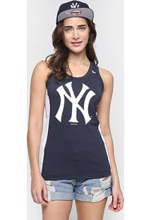 Camiseta Regata New Era Mlb New York Yankees Feminina - Feminino-Marinho