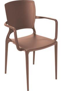 Cadeira Sofia Fechada Marrom