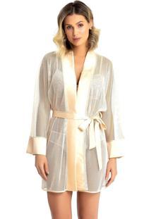 Robe Recco De Tule Acetinado Charmeuse Dourado