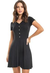 Vestido Madrepérola Preto