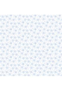 Papel De Parede Lymdecor Florzinha Azul