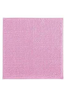 Tapete De Banheiro Antiderrapante Bolinha Microfibra Rosa