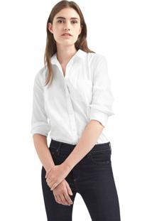 Camisa Gap Reta Bolso Branca
