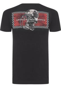 Camiseta Masculina Rise Of The Machines - Preto