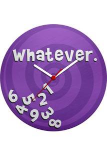 Relógio De Parede Ecológico Whatever Geek10 - Multicolorido