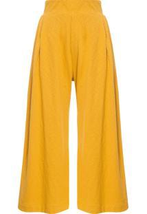Calça Feminina Pantacourt Rustic - Amarelo