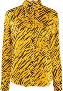 Love Moschino Blusa Com Estampa De Logo - Amarelo
