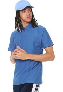Camisa Polo Volcom Logo Azul