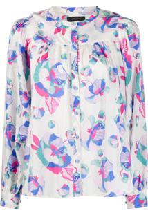 Isabel Marant Blusa Ritonea Com Estampa Floral - Azul