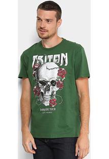 Camiseta Triton Darkside Tour Masculina - Masculino-Verde