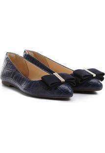 Sapatilha Shoestock Laço - Feminino-Marinho