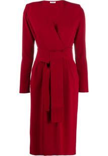 P.A.R.O.S.H. Vestido Envelope Com Cinto - Vermelho