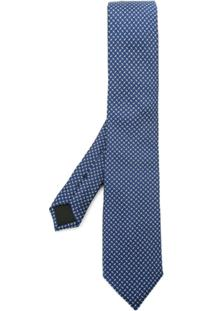 Boss Hugo Boss Gravata De Seda - Azul