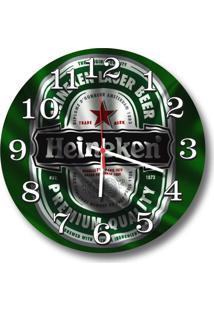 Relógio De Parede Decorativo Heineken 35Cm Médio