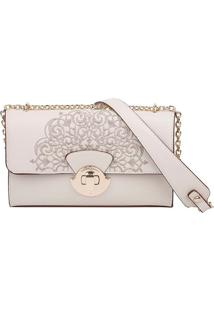 Clutch Com Bordados - Off White - 16,6X25X5Cmfellipe Krein