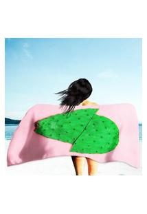 Toalha De Praia / Banho Cacto Pink Único