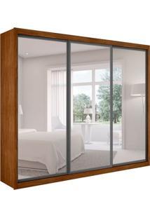 Guarda-Roupa Casal Com Espelho Ravena Top 3 Pt 6 Gv Imbuia