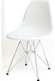 Cadeira Eames Polipropileno Branco Base Cromada - 9521 - Sun House