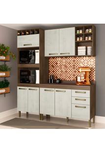 Cozinha Compacta Viena I 8 Pt 2 Gv Marrom E Gelo
