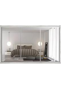 Guarda-Roupa Toronto - 3 Portas - Com 3 Espelhos - 100% Mdf - Ártico