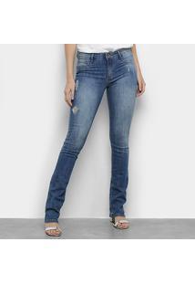 Calça Jeans Flare Lança Perfume Boot Cut Low Feminina - Feminino-Jeans