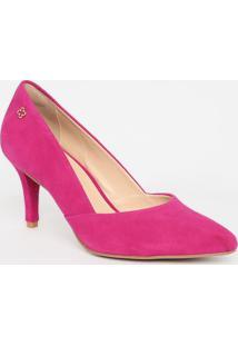 Scarpin Em Couro - Pink- Salto: 7,5Cmcapodarte
