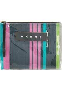Marni Clutch Com Zíper E Logo - Estampado