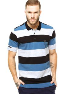 Camisa Polo Globe Ultra Stretch Azul
