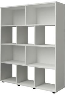 Estante Para Livros Rack Book10 Nichos Branco Artely