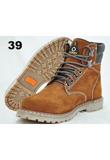Botina Nobuk Castor Oliveira Sapato Nº 39