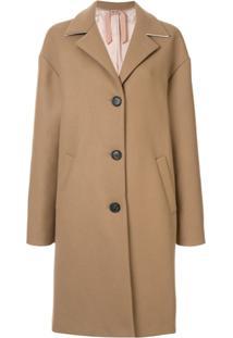 Nº21 Wool Oversized Single Breast Coat - Marrom