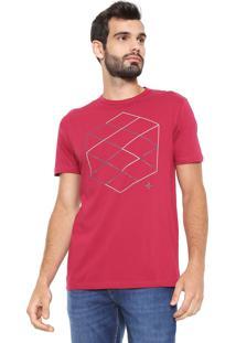 Camiseta Dudalina Estampada Rosa