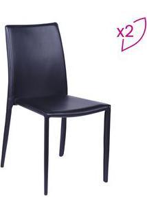 Or Design Jogo De Cadeiras De Jantar Glam Preto 2Pã§S