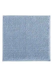 Tapete De Banheiro Antiderrapante Bolinha Microfibra Azul