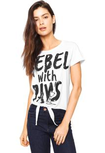 Camiseta Snoopy Rebel Branca