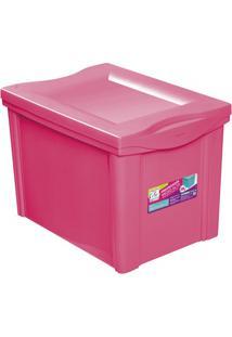 Caixa Organizadora Em Polipropileno 30 Litros Rosa
