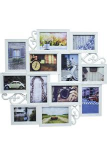 Porta Retrato Minas De Presentes 12 Fotos Bege
