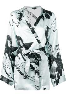 Ann Demeulemeester Jaqueta Kimono - Preto