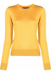 Dolce & Gabbana Blusa Slim De Tricô - Amarelo