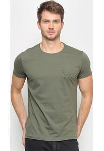 Camiseta Acostamento Básica Masculina - Masculino-Verde Militar