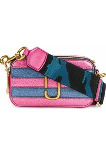Marc Jacobs Bolsa Transversal De Couro 'Snapshot' Pequena - Rosa