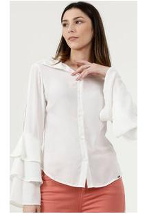 Camisa Feminina Chiffon Manga Longa Disparate