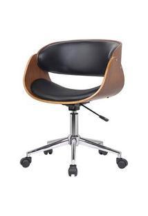 Cadeira Deise Base Rodizio Cor Preta - 29957 Preto