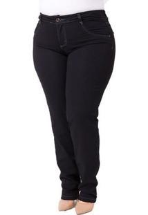 Calça Confidencial Extra Plus Size Cigarrete Jeans Casual Feminina - Feminino