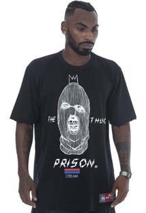 Camiseta Prison Gangster Preta