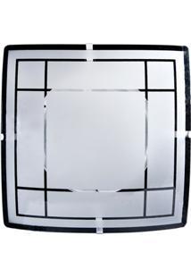 Plafon Para 2 Lâmpadas Quadrado Xadrez Branco