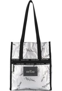 Marc Jacobs Bolsa Tote New York - Prateado